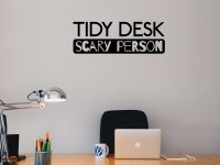 Tidy Desk Scary Person | Decal | Sticker - Wall Art Company