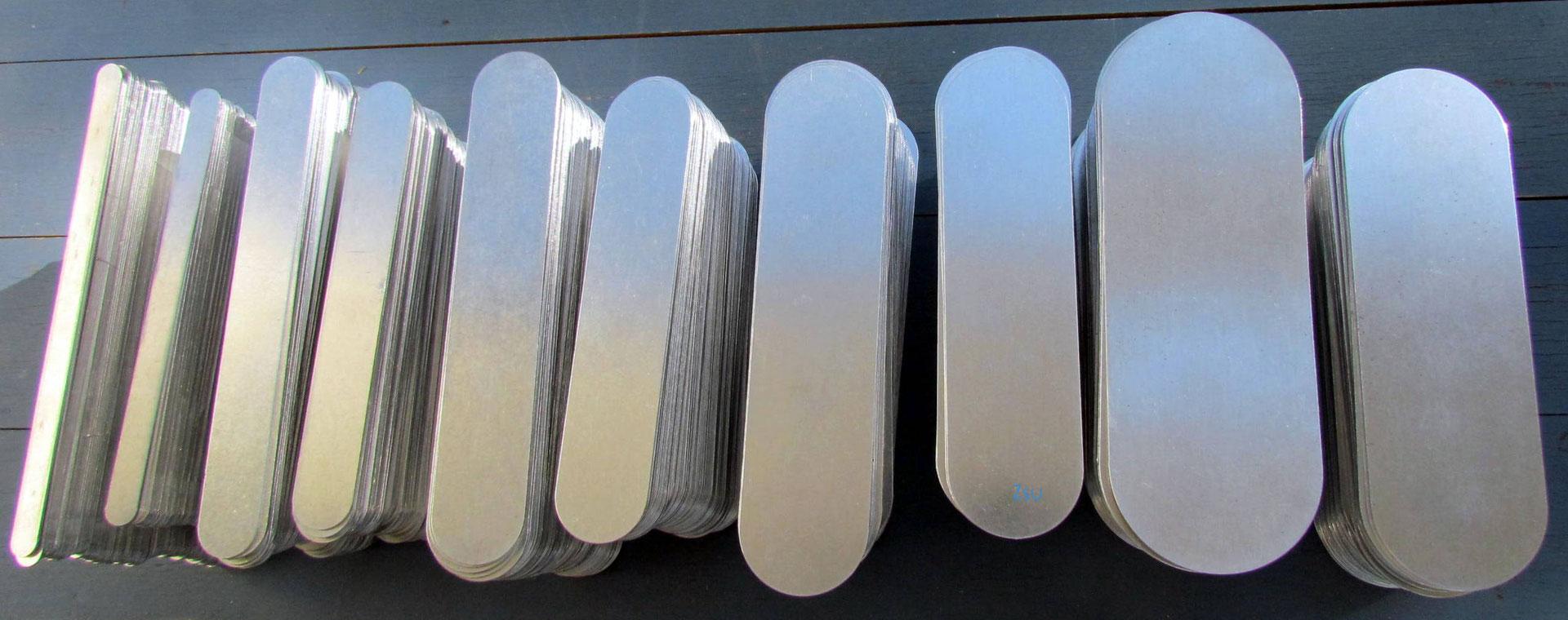Armreif Rohlinge aus Aluminium  Schmuck Polymer Clay