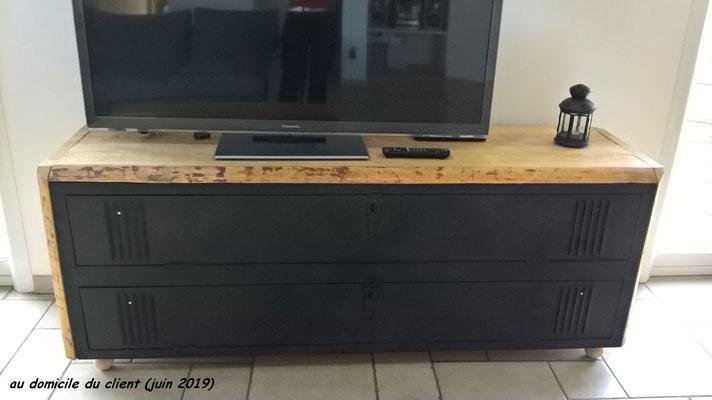 meubles industriels metal et bois