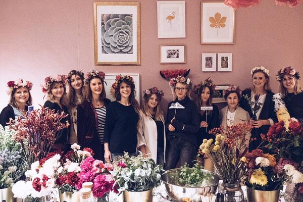 Flowercrown Workshop mit Melvita  Hochzeitsfloritik