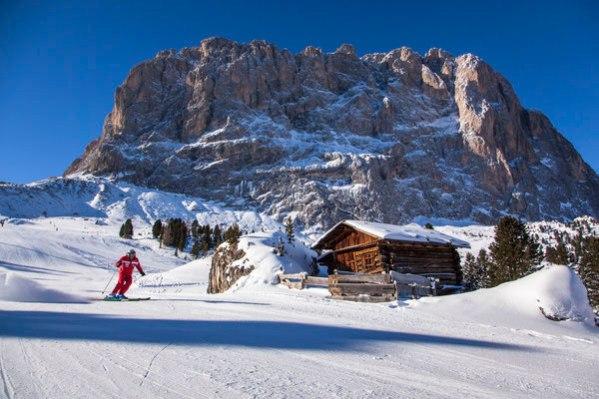 skier at Val Gardena, italy