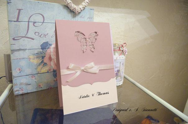 Karten  Shabby Chic Einladungskarten Taufkarten Deko