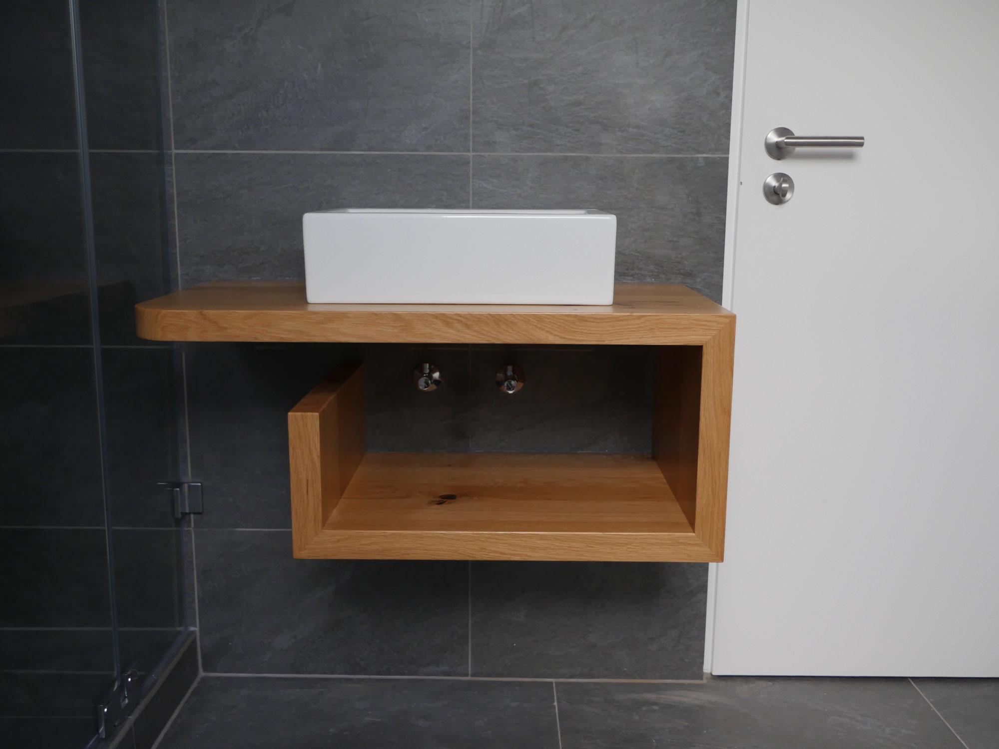 Waschtischunterschrank Holz  Schreinerei  Holzdesign Rapp Geisingen