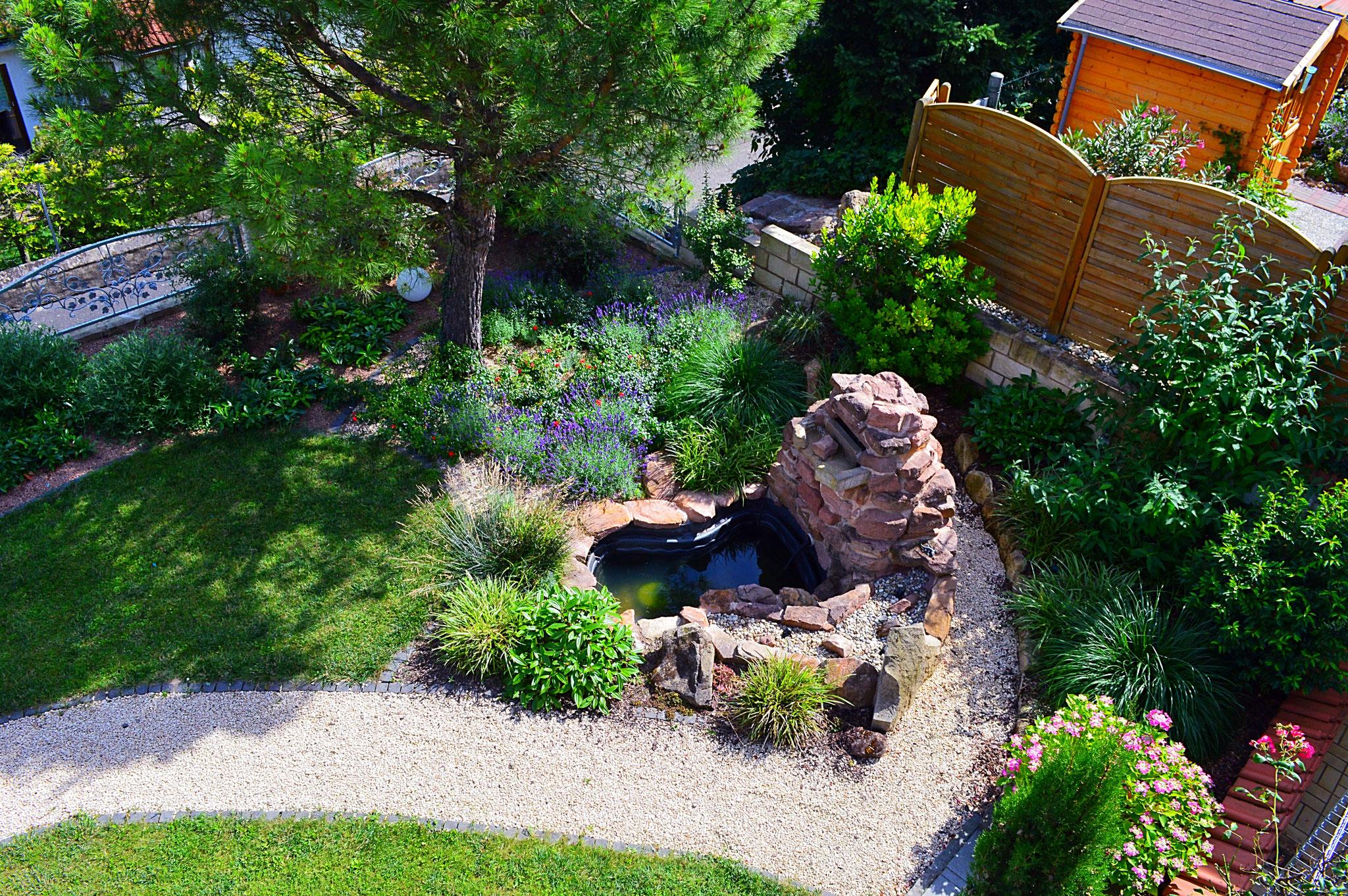 Gartengestaltung Mediterraner Stil Lavamulch Galabau Mahler Lava