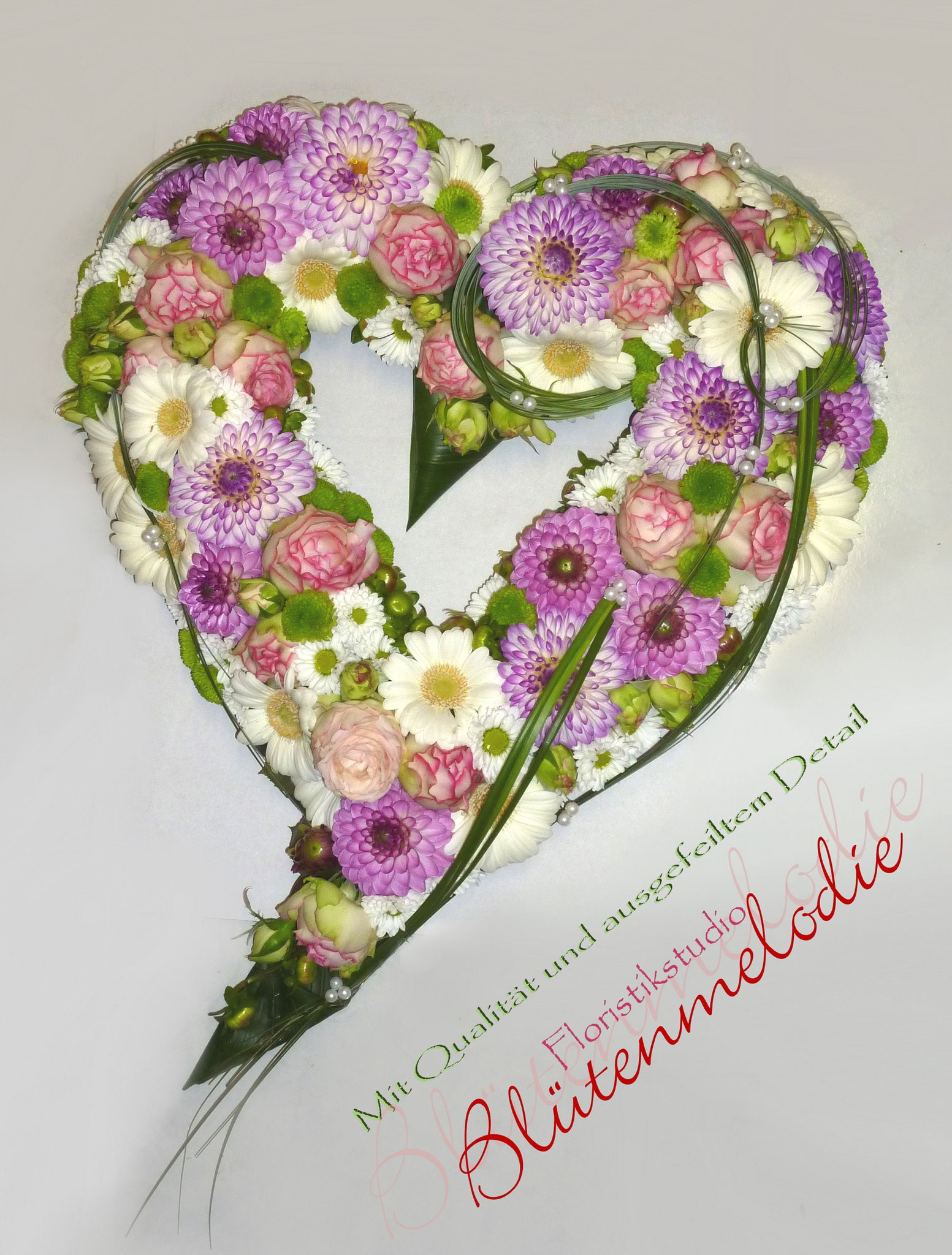 Autodeko Herzen  Bltenmelodie Floristikstudio Frse