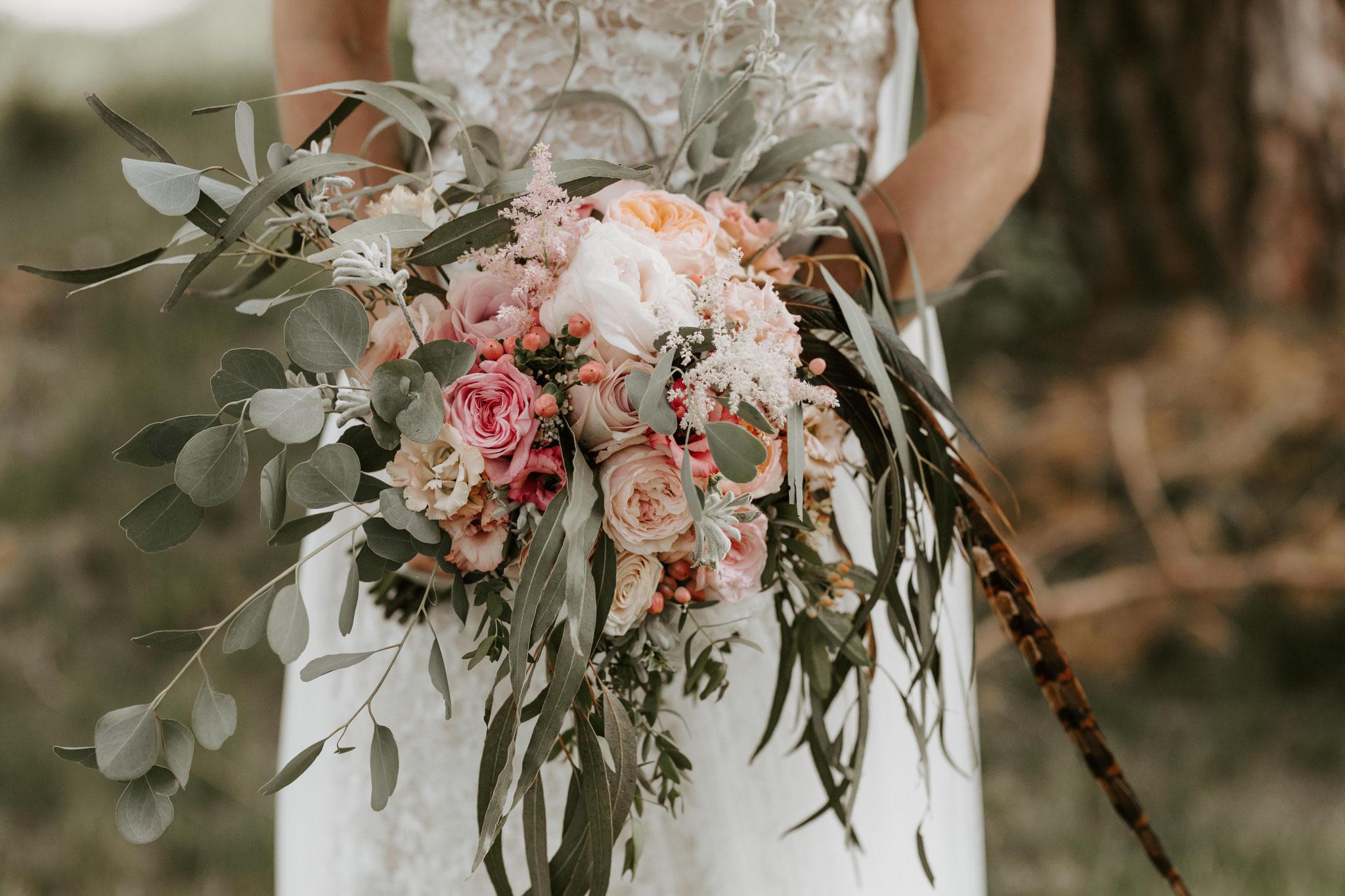 Carina  Christian  Wildromantische Boho Hochzeit mit