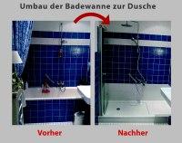 Wanne zur Dusche - Badewanne raus  Dusche rein - Bad ...