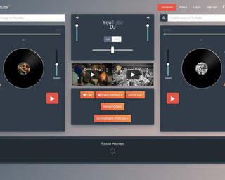 Youtube DJ App Mixing Music: