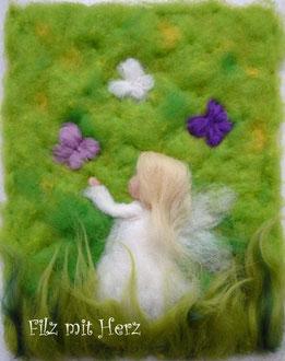 Engel  Wollbilder Filz mit Herz  filzmitherz  Woll
