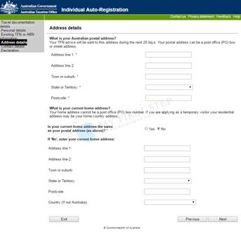 ATO - Individual Auto-Registration 6