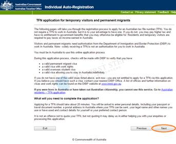 ATO - Individual Auto-Registration 2