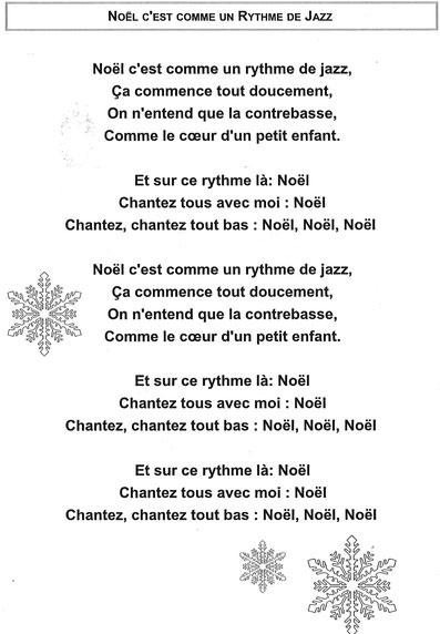 Noël C'est Comme Un Rythme De Jazz Paroles : noël, c'est, comme, rythme, paroles, 2020-2021, école, André, AALBERG