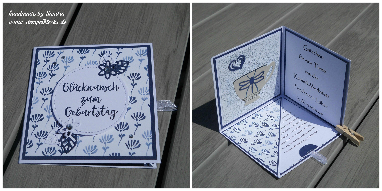 Anleitung Corner Pop Up Card Stempeln Stanzen Und Basteln