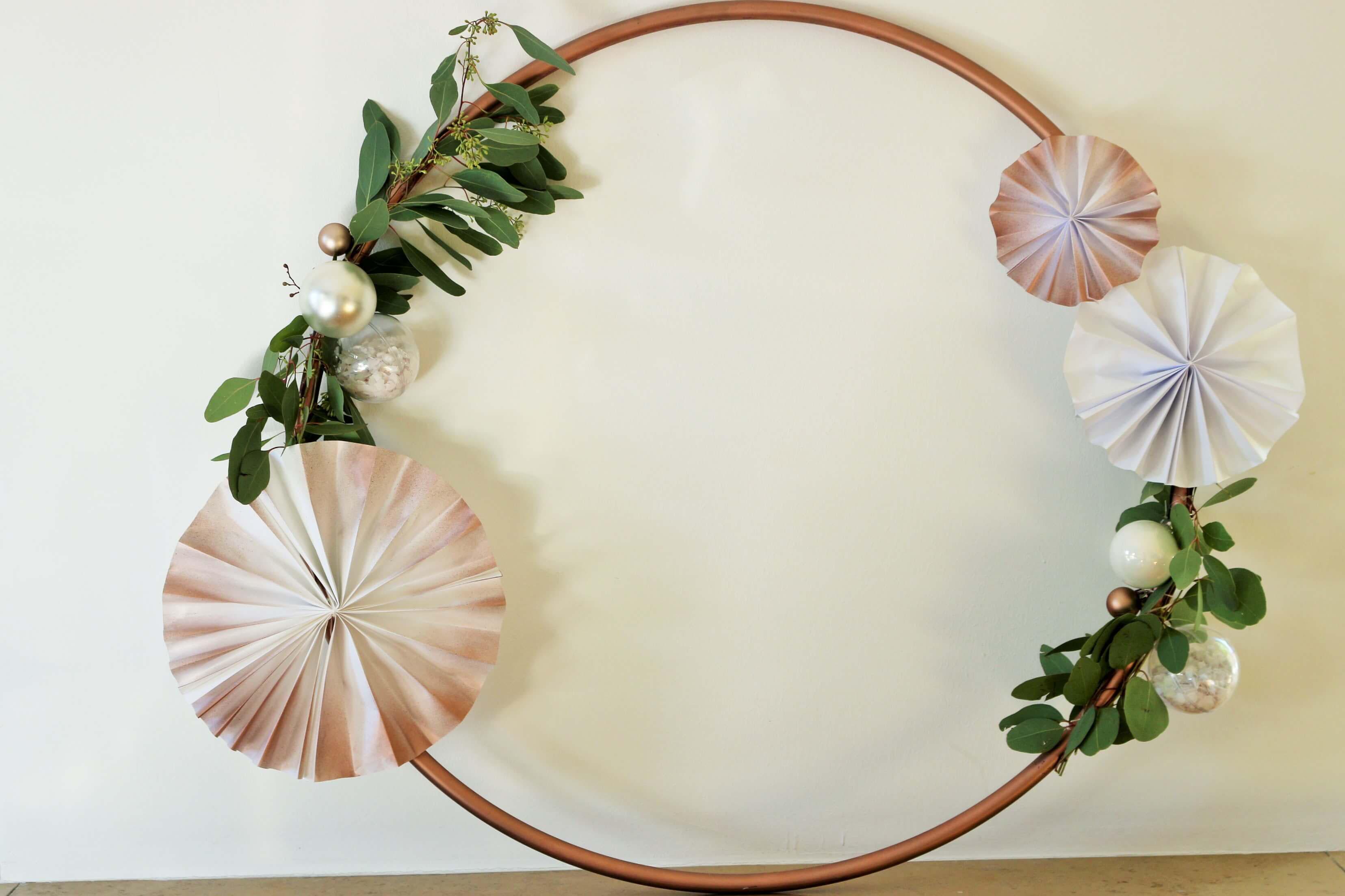 DIY Hula Hoop Reifen Deko fr Advent und Weihnachten