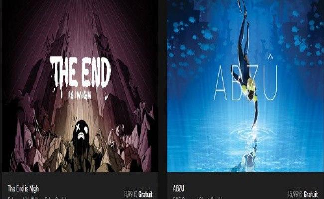 Bon Plan Epic Games Store Les Jeux The End Is Nigh Et