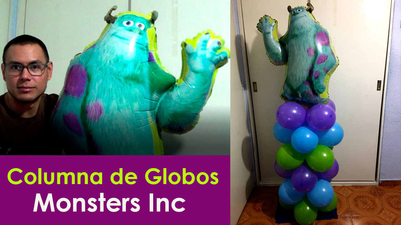 Columna de globos Fiesta Monsters Inc  decoracion para