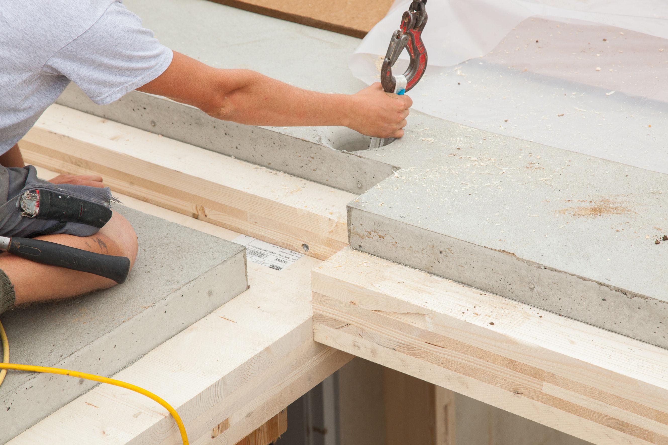 Das HolzBetonVerbundelement  mmkcoat