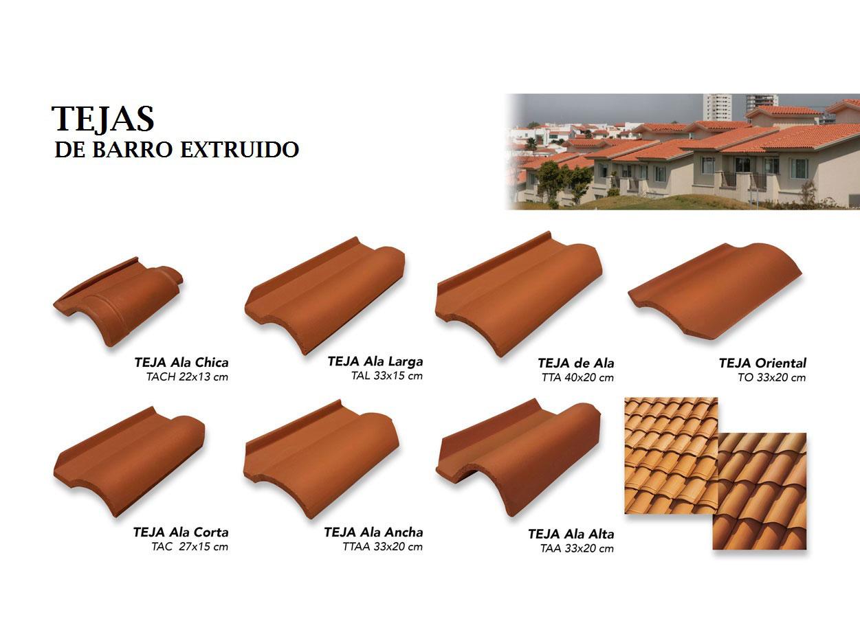 TEJAS BARRO EXTRUIDO  TEJASAZULEJOLAMINAS ALFARERIA DE
