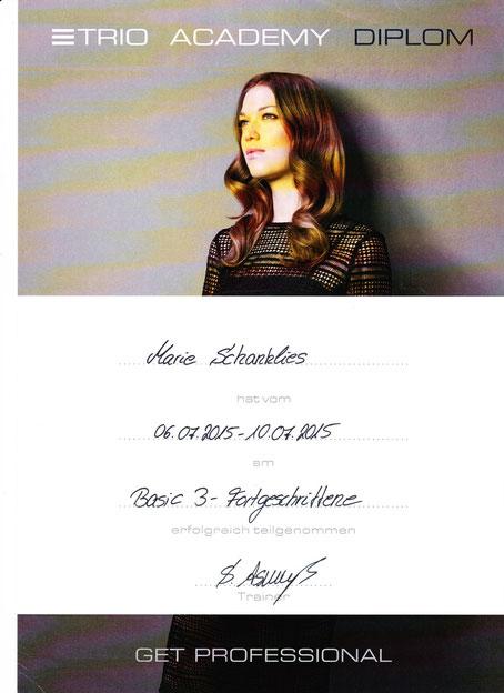 Zertifikate  Studio Ben Friseur