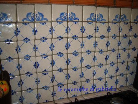 pannelli 2 pannelli in ceramica artistica maiolica pannelli per cucina ristoranti