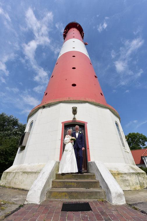 Hochzeit auf der Insel Pellworm  Leuchtturm  Fotograf