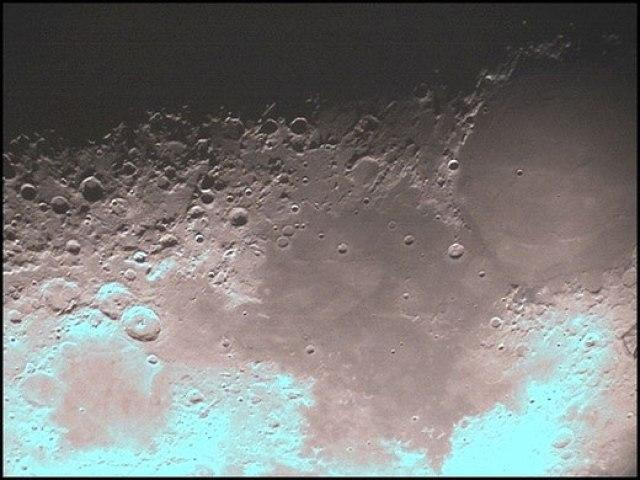 Ảnh Mặt trăng nhìn qua kính thiên văn 150mm tự chế của HAAC. Các kính thiên văn nhỏ của Trung Quốc cũng có thể thấy được như vậy