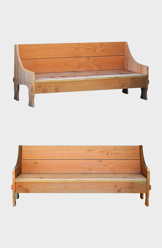 banquette canape en bois massif made in france