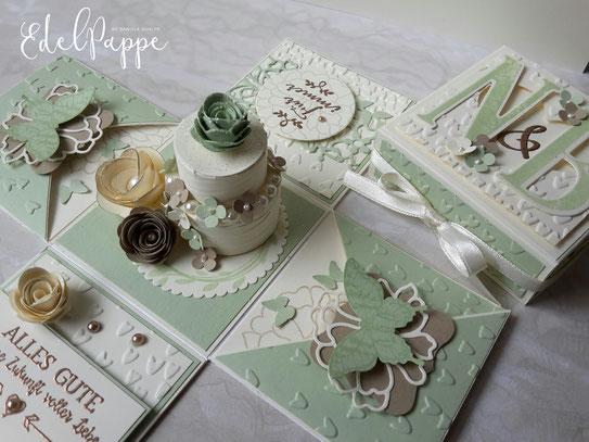 Explosionsbox zur Hochzeit  Anleitung fr die Torte