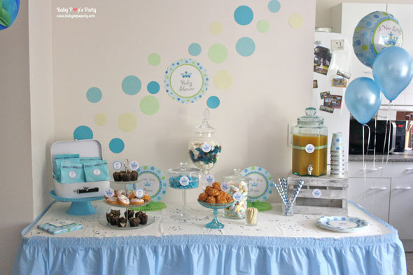 Baby Shower Little Prince BABY POPS PARTY Dcoration
