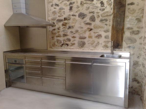 Puertas de cocina en acero inoxidable a medida  Aceros Rago