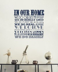 In Our Home - We do Family | Sticker - Wall Art Company