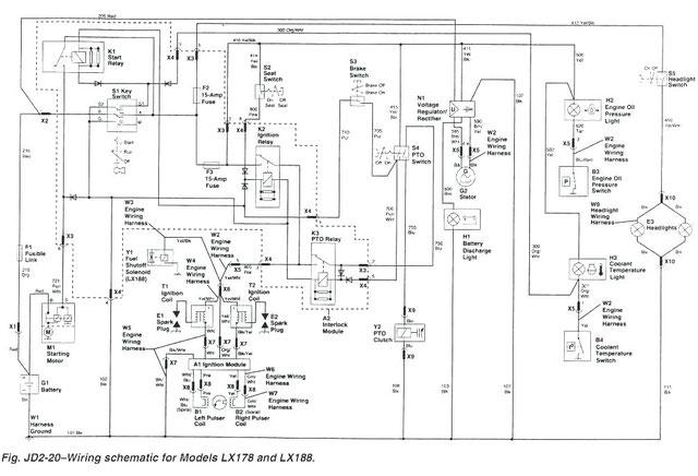 John Deere Service Repair Manuals. Wiring Schematic