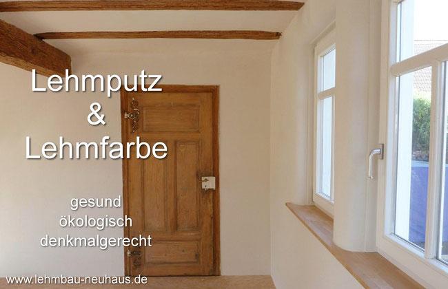 Lehmputz Lehmfarbe und Lehmfeinputz  Lehmbau Neuhaus