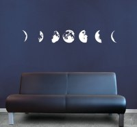 Phases of the Moon | Vinyl | Decal | Sticker - Wall Art ...