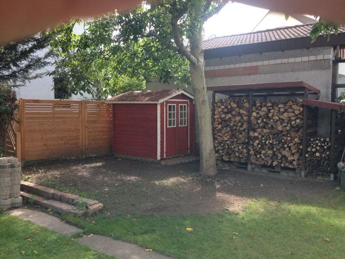 Holzunterstand  Heimwerker  tutorial zum Thema DIY