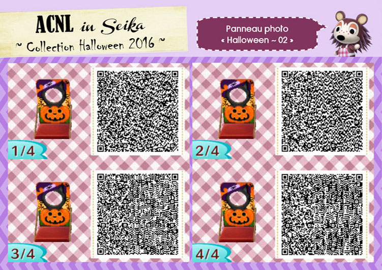 Animal Crossing New Leaf Wallpaper Qr Les Motifs De Seika Pour F 234 Ter Halloween Acnl In Seika
