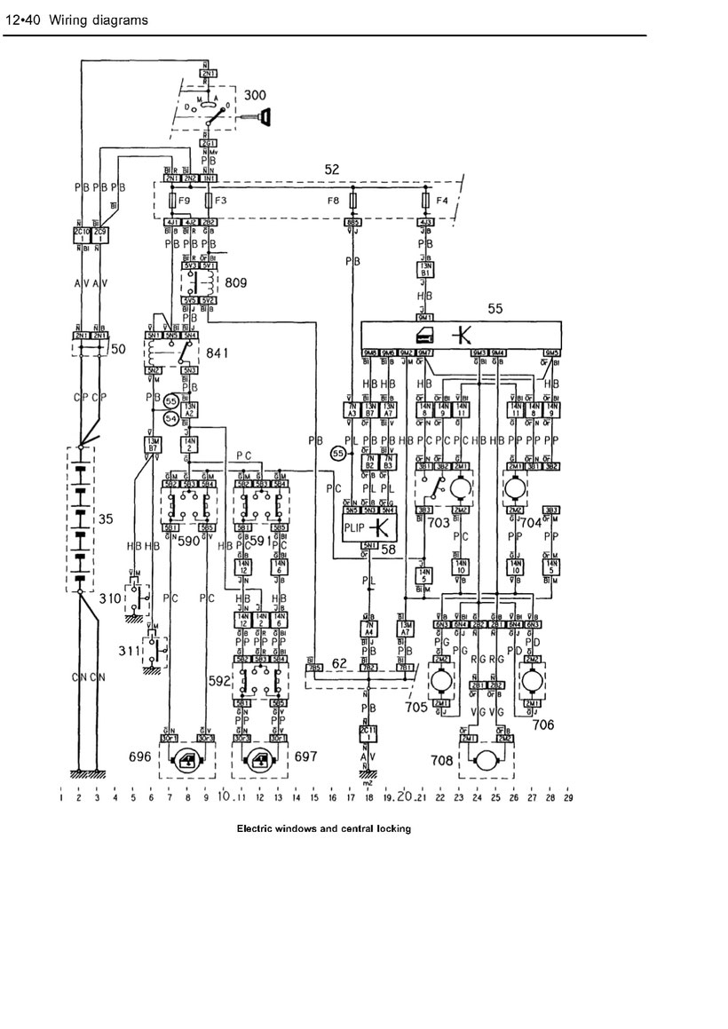 80 Series Central Locking Wiring Diagram