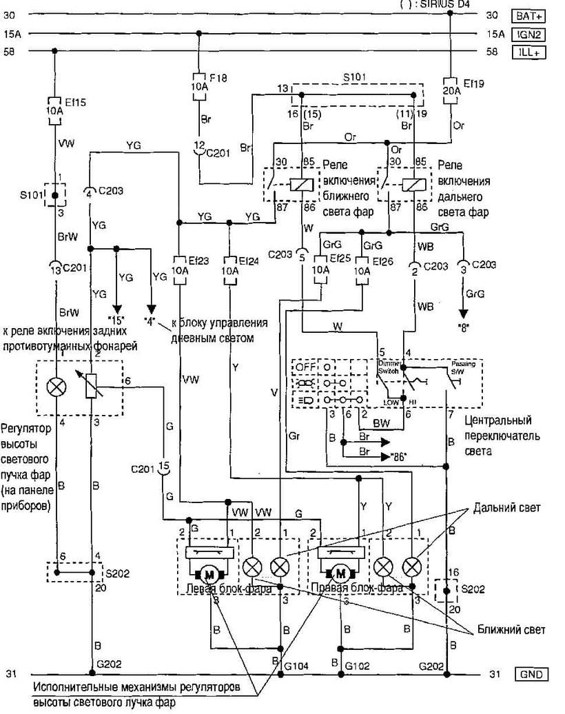 hight resolution of chevrolet aveo headlamp height adjustment system wiring diagram