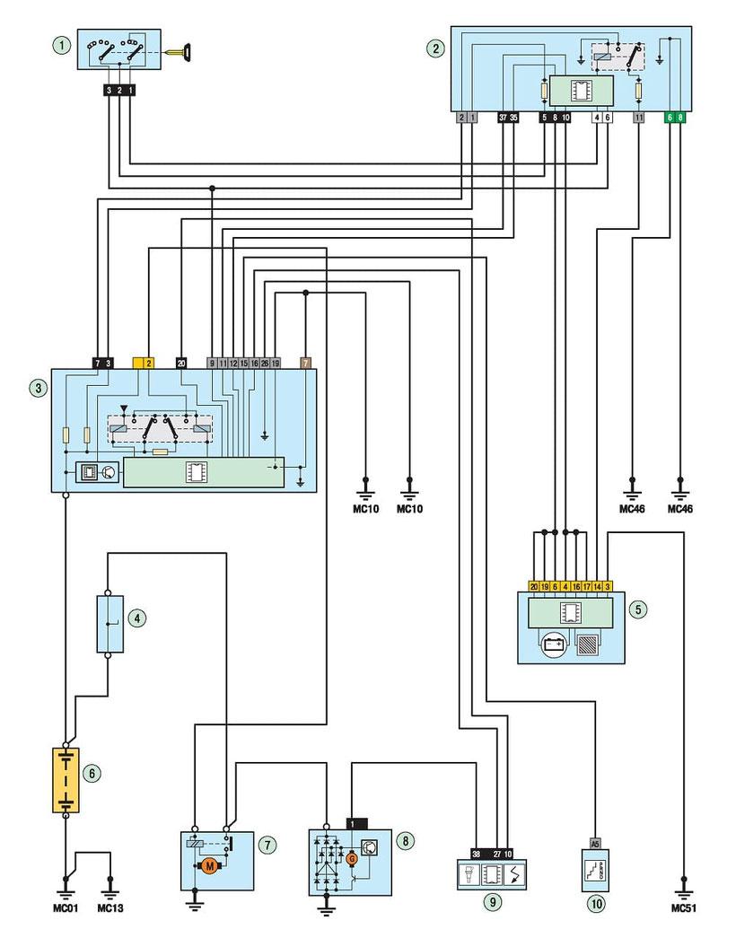 medium resolution of 308 starter and alternator diagram