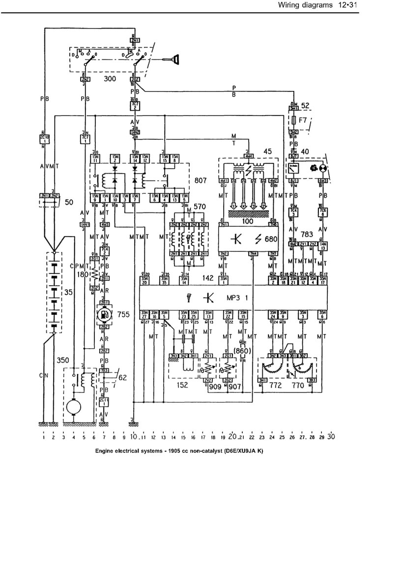 Citroen Engine Schematic