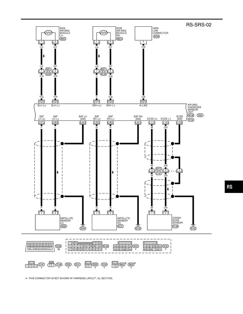 medium resolution of i35 supplemental restraint system srs circuit diagram