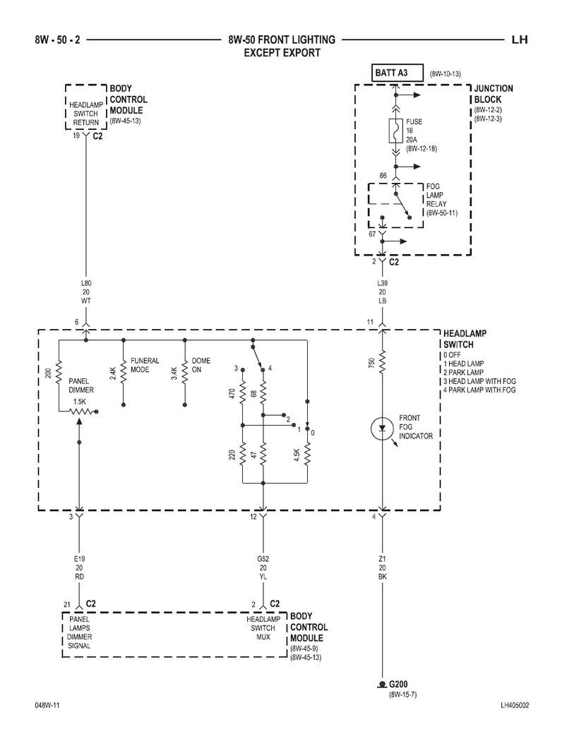 medium resolution of 300m concorde interpid lhs front lighting circuit diagram
