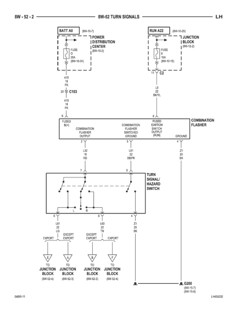 small resolution of 300m concorde interpid lhs turn signals circuit diagram