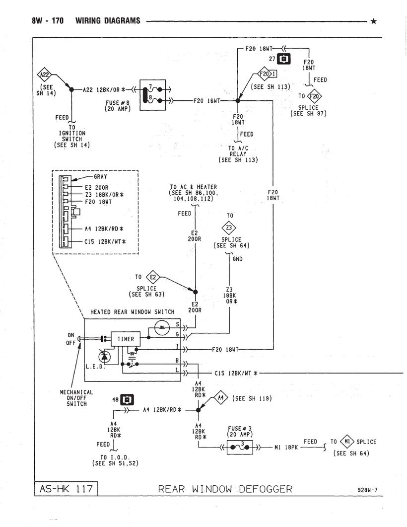 hight resolution of caravan rear window defogger schematics