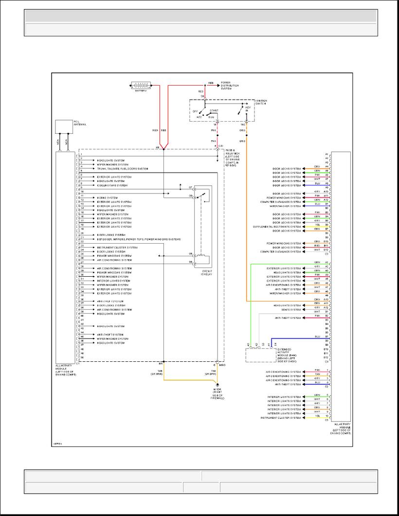 medium resolution of ml320 w163 all activity module circuit diagram