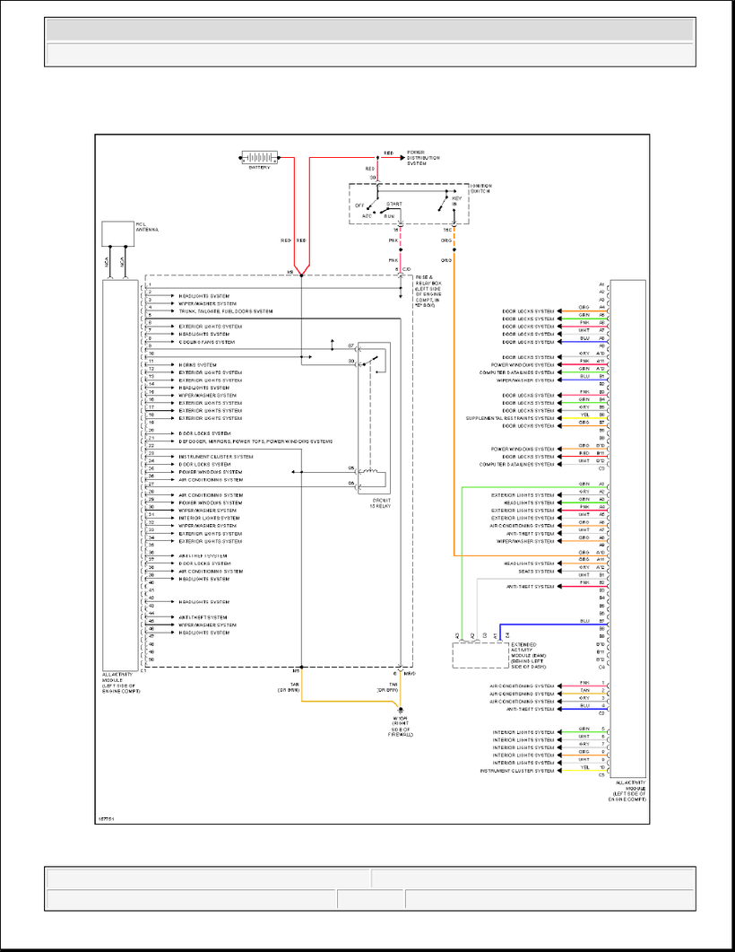 hight resolution of ml320 w163 all activity module circuit diagram