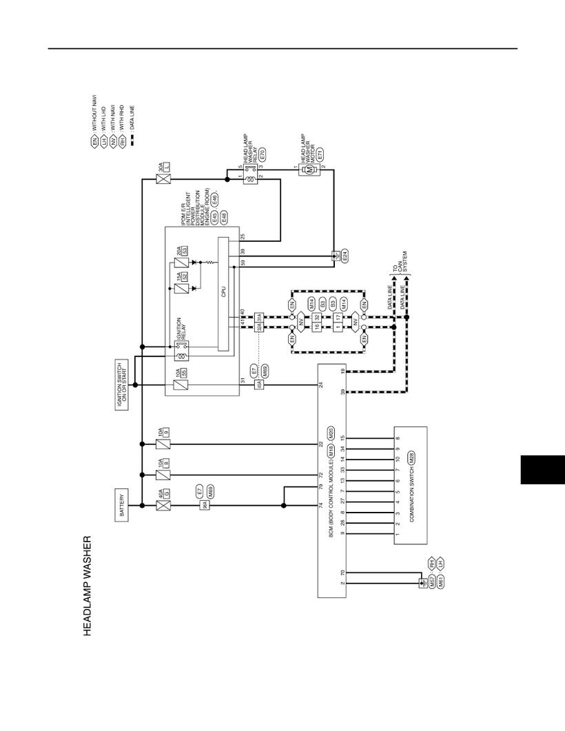 hight resolution of tiida headlamp washer system wiring diagram