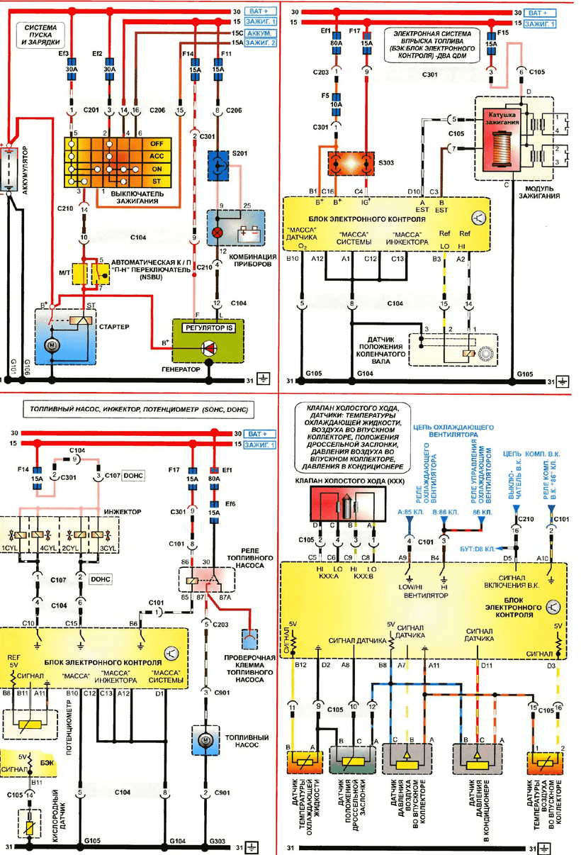 medium resolution of daewoo lanos wiring diagrams of starting and charging system electronic fuel injection system two