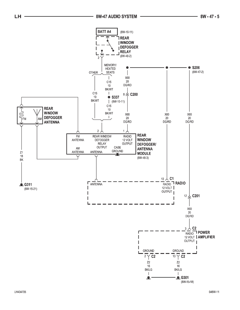 hight resolution of 300m concorde interpid lhs audio system wiring diagram