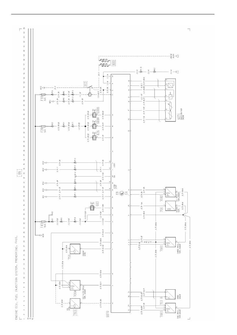 hight resolution of fh engine ecu fuel injection system preheating wiring diagram